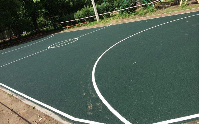 Мини футбольная площадка детский сад № 227
