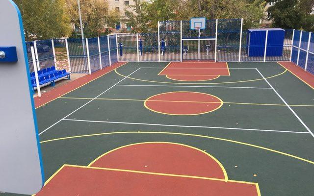 Спортивная площадка м-р Железнодорожный