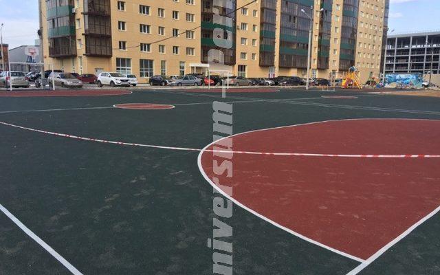 Жилой комплекс «Солнечный город»! Выполнены работы по устройству покрытий футбольных и детских площадок