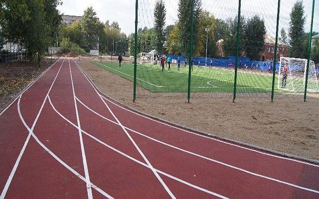 Школьный стадион Школы № 60 на Ладыгина 14