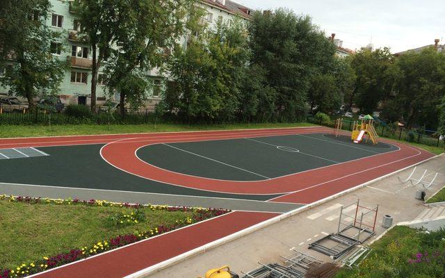Стадион гимназия № 4. ул Ленина 73а