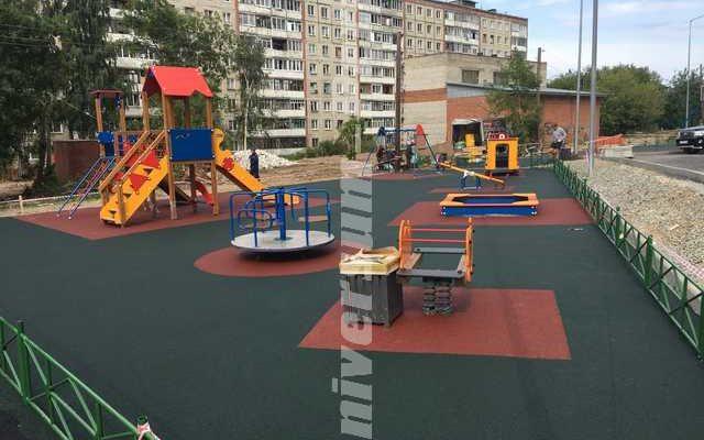 Детские и спортивные площадки жилого комплекса «Выше Мира»