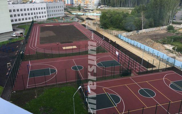 Город Челябинск, Беговые дорожки и Спортивные площадки