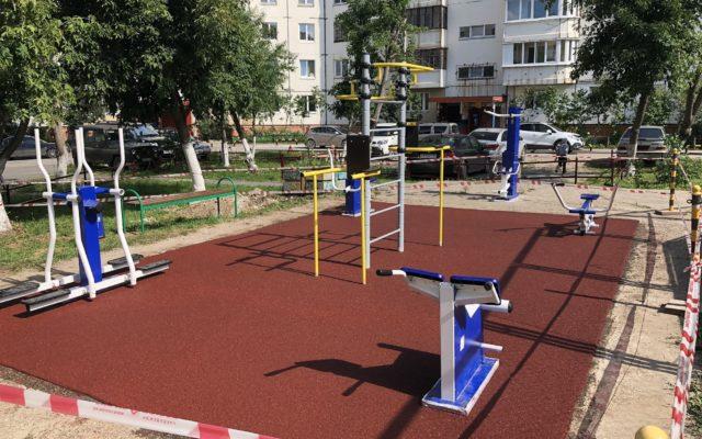Спортивная площадка жилого дома по ул. Уинская 8