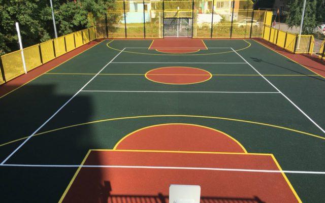 Спортивная площадка на ул. Халтурина, за ТЦ Агат