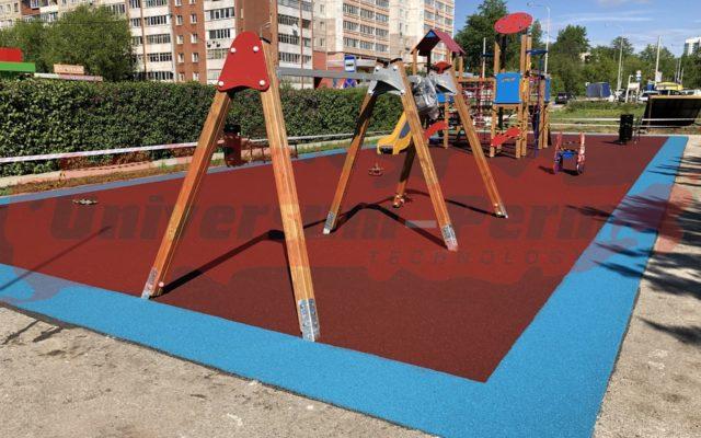 2019 г. Детская площадка в парке Сквер участников трудового фронта м-р Парковый