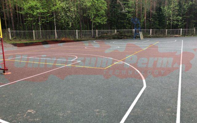 Спортивная площадка. Санаторий Лесная поляна