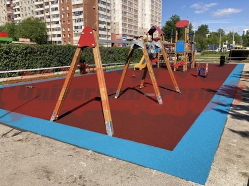 Детская площадка в парке Сквер участников трудового фронта м-р Парковый