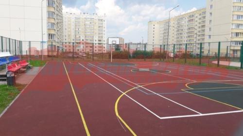 Замена покрытия на спортивной школьной площадке, пос. Гамово
