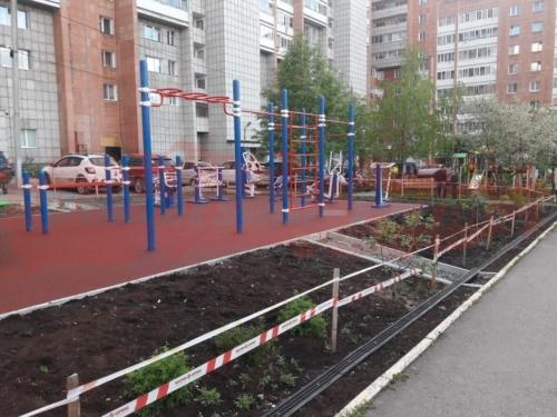 Спортивная площадка жилого дома, по ул. Советской армии