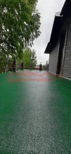 Терраса частного дома м-р Налимиха, водонепроницаемое покрытие