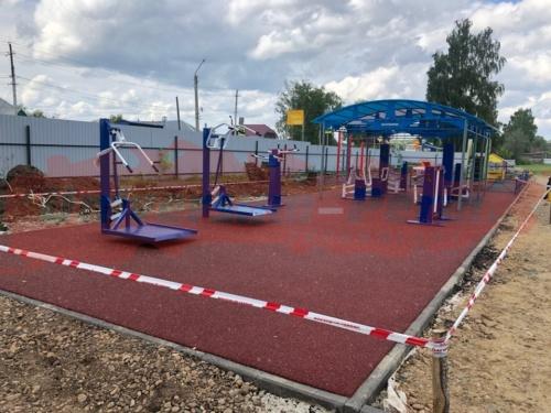 Детская и спортивная площадки, г. Кудымкар, стадион «Парма»